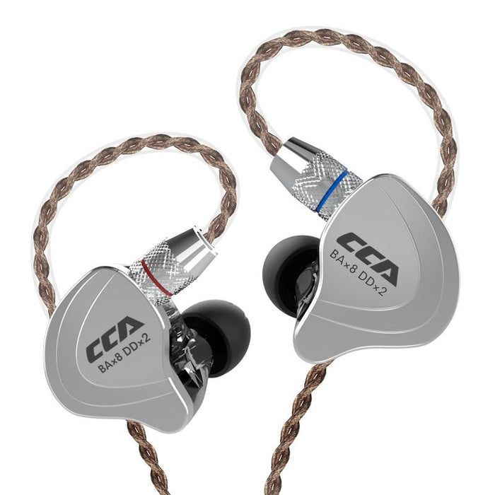 CCA C10 4BA+1DD Hybrid In Ear Earphone HiFiGo black no mic