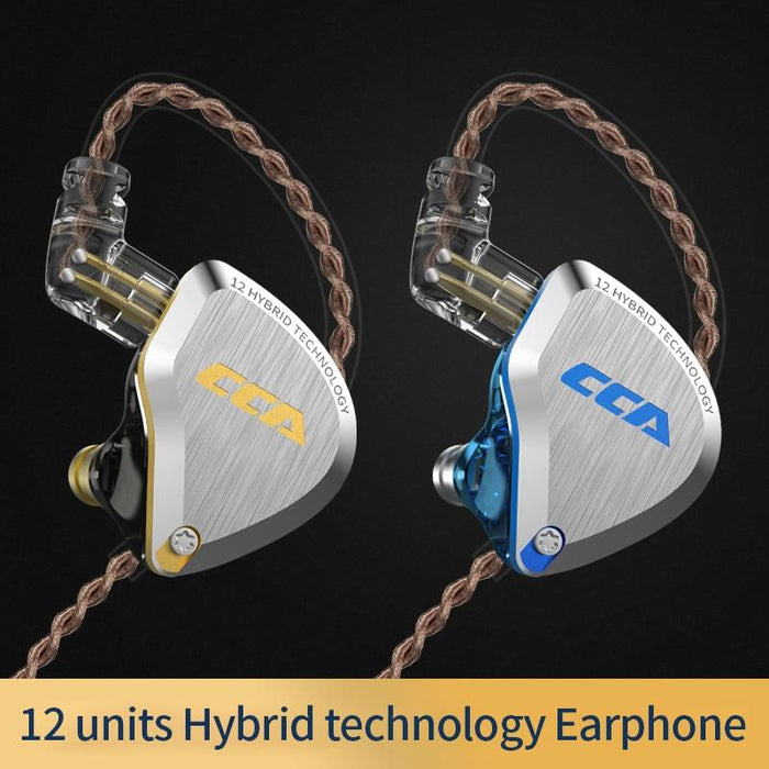 CCA C12 5BA+1DD Hybrid In Ear Earphone 6 Driver Unit HIFI IEM HiFiGo