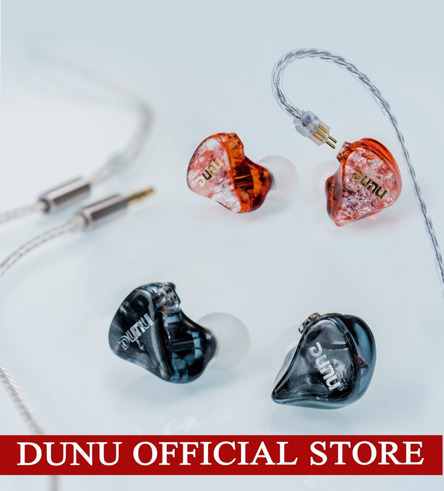DUNU DM-480/DM480 Titanium Dual Dynamic In-ears earphone HiFi Audio IEM HiFiGo