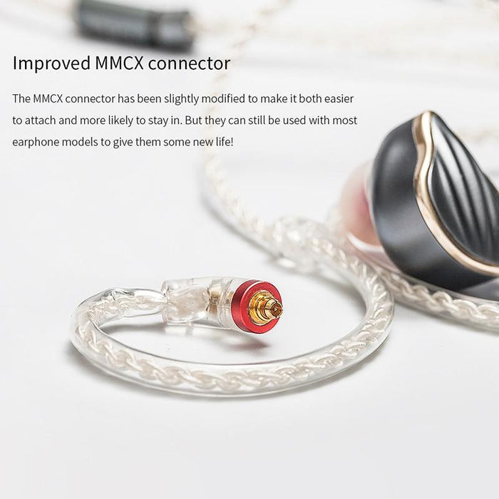 FiiO 45cm Earphone Cable High-Purity Copper-Plated Silver MMCX HiFiGo
