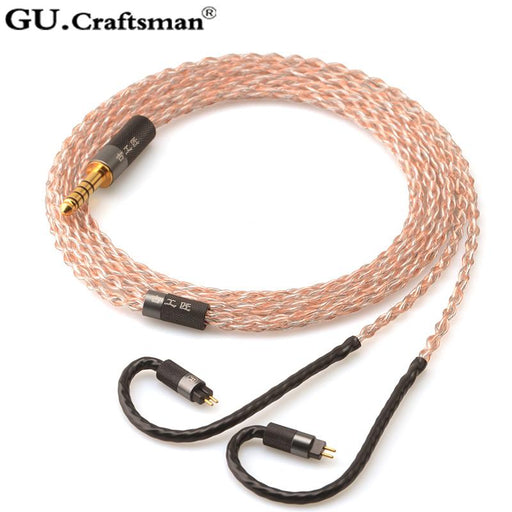 GUCraftsman 5n OFC Copper 0.78mm 2Pin In Ear Earphone Upgrade Cable HiFiGo