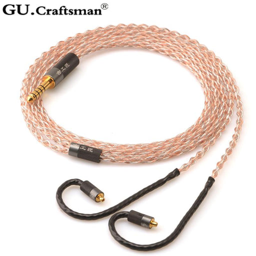 GUCraftsman 5n OFC copper 2.5/4.4mm Balance MMCX Headphone Cable HiFiGo