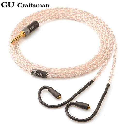 GUcraftsman 5NOFC silver For Westone W, UMPro Series Headphone Upgrade Cable HiFiGo