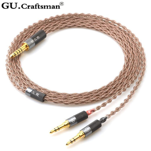GUcraftsman 6N OCC copper SW01 elear AT-D7200 D5200 D9200 t1 t5p 2nd AK T5P HE1000SE HE6SE ANANDA Arya Headphone upgrade Cable HiFiGo
