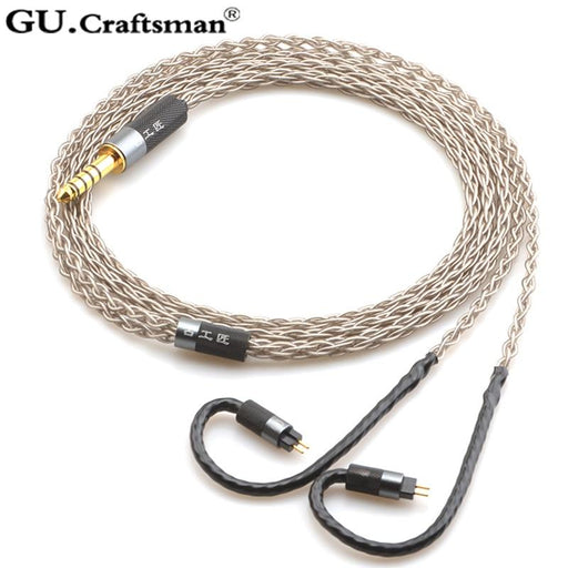 GUCraftsman 6n Silver 0.78mm 2Pin 64audio Headphone Upgrade Cable HiFiGo