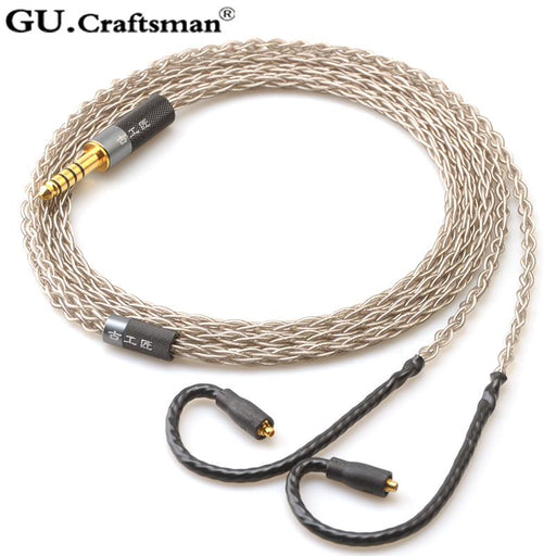 GUcraftsman 6N Silver For Westone W, UM, AM Series Headphone Upgrade Cable HiFiGo