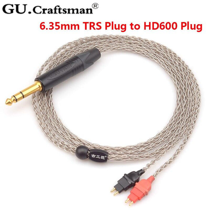 GUcraftsman 6n silver HD600 HD650 HD660s Headphone upgrade Cables 4.4/2.5mm balance HiFiGo