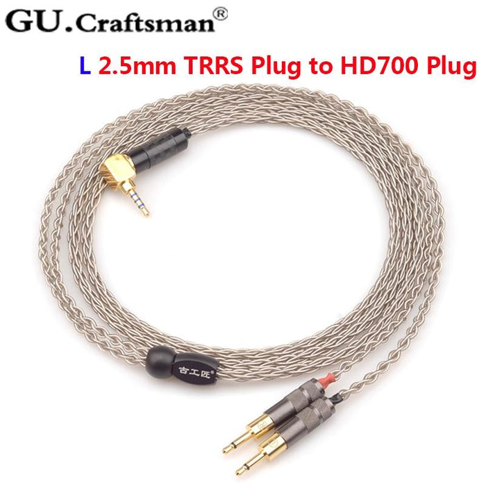 GUcraftsman 6n Silver hd700 Headphone Upgrade Cable 4Pin XLR 2.5MM/4.4MM Balance HiFiGo