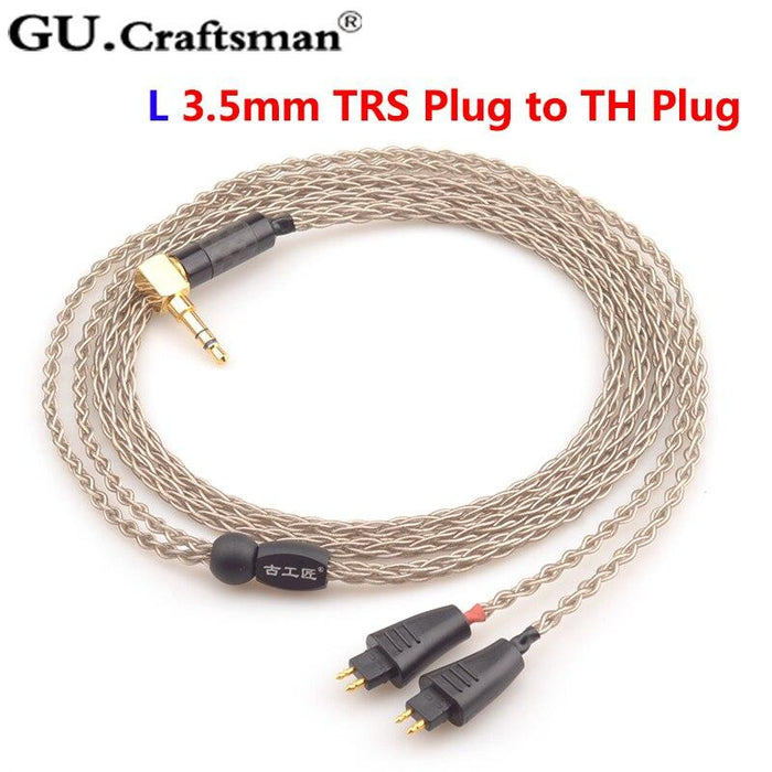 GUCraftsman 6N Silver TH610 TH900 MK2 TH909 2.5/4.4/XLR Balance Headphone Upgrade Cable HiFiGo