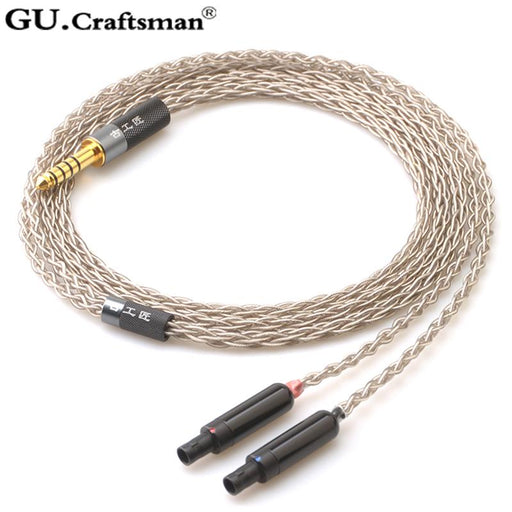 GUcraftsman 8 Core 6n Silver For SENNHEISER Balanec Headphone Upgrade Cable HiFiGo