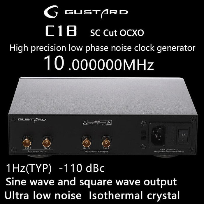 GUSTARD C18 10MHZ Constant Temper High Precision Low Phase Noise Clock HiFiGo