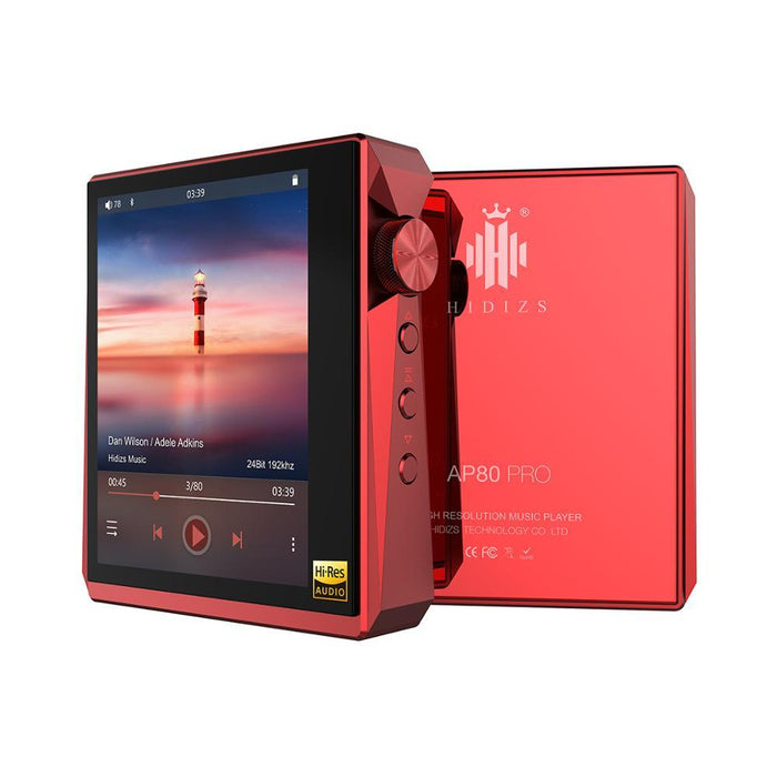 Hidizs AP80 PRO Fully Balanced Portable Music Player DAP HiFiGo red