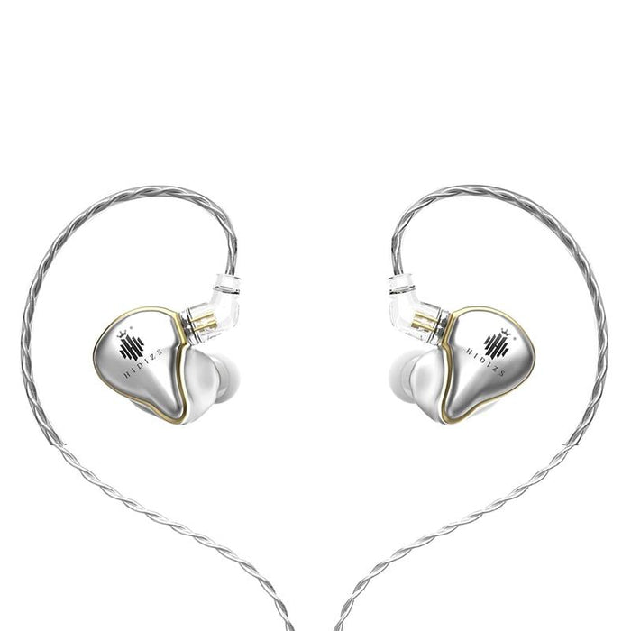 Hidizs Mermaid MS1 Dynamic Diaphragm In-Ear Monitor Earphone IEM HiFiGo silver