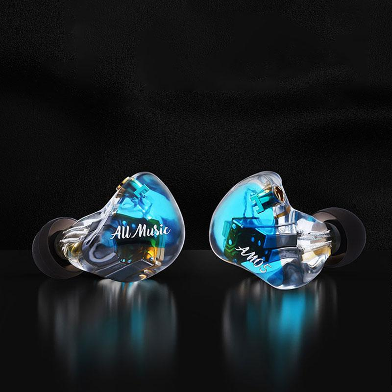 iBasso AM05 5BA Knowles In Ear Wired 4 Channel IEM HiFi Earphone with MMCX HiFiGo