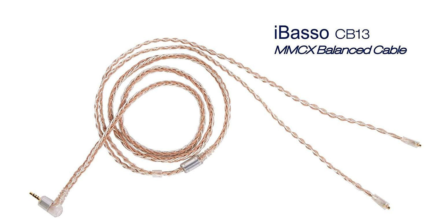 iBasso CB13 MMCX Monocrystal Silver & Copper Braided Balanced Cable for IT03 in Ear Monitor (IEM) Headphones HiFiGo