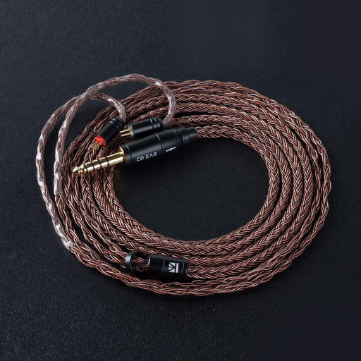 KBEAR 16 Core Pure cCopper cable with metal 2pin/MMCX/QDC Connector HiFiGo