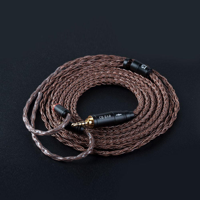 KBEAR 16 Core Pure cCopper cable with metal 2pin/MMCX/QDC Connector HiFiGo MMCX 2.5mm