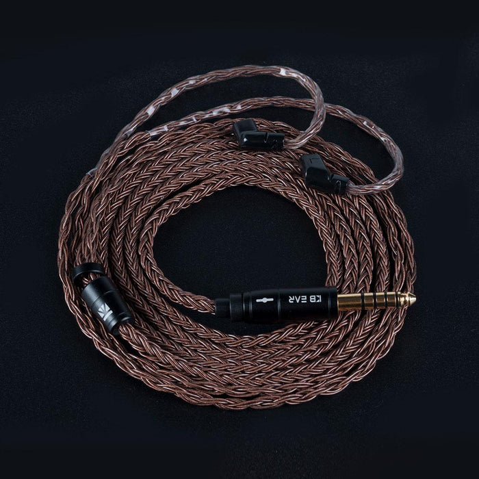 KBEAR 16 Core Pure cCopper cable with metal 2pin/MMCX/QDC Connector HiFiGo QDC 4.4mm