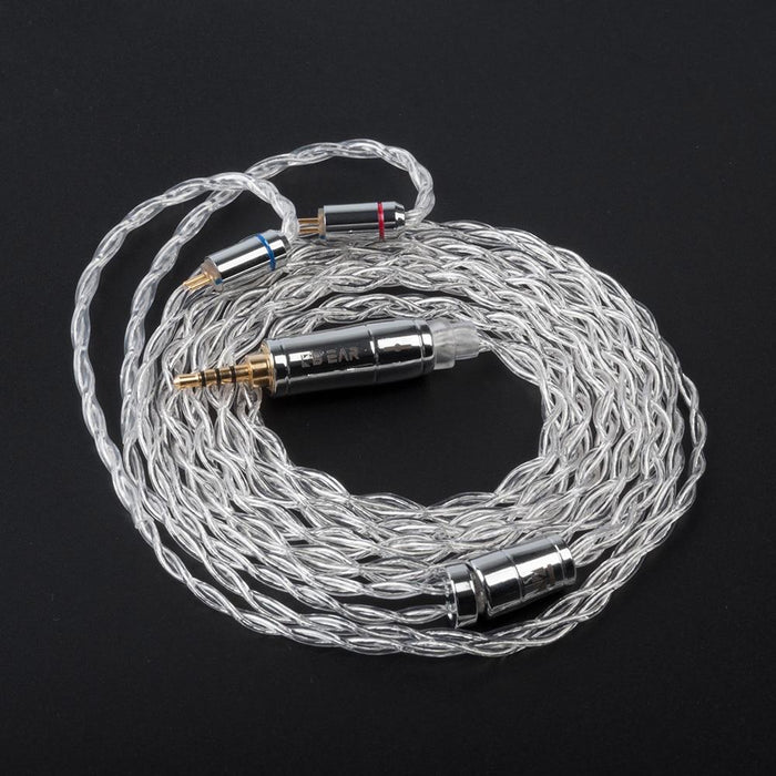 KBEAR 4 Core 4N 99.99% Purity Silver Earphone Cable with 2Pin/QDC/MMC/TFZ HiFiGo 2Pin 2.5mm