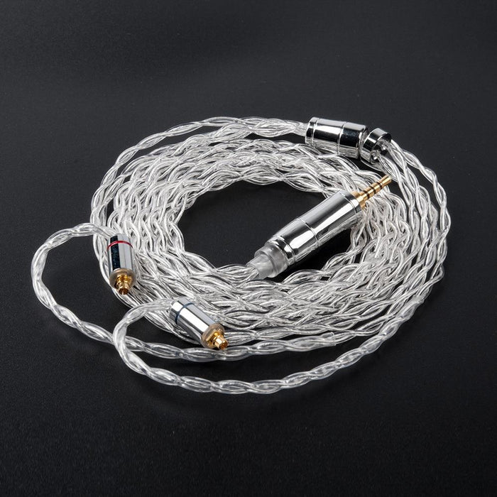 KBEAR 4 Core 4N 99.99% Purity Silver Earphone Cable with 2Pin/QDC/MMC/TFZ HiFiGo MMCX 2.5mm