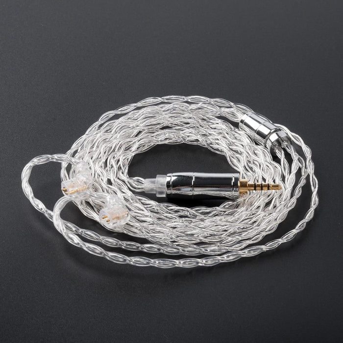 KBEAR 4 Core 4N 99.99% Purity Silver Earphone Cable with 2Pin/QDC/MMC/TFZ HiFiGo QDC 2.5mm