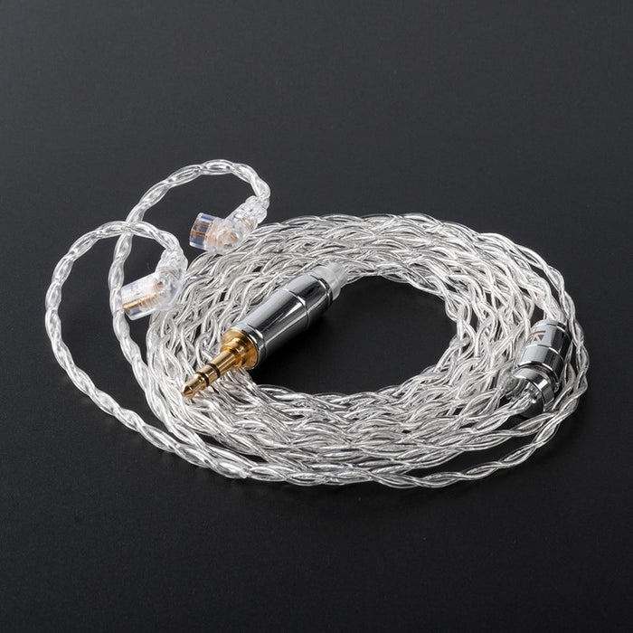 KBEAR 4 Core 4N 99.99% Purity Silver Earphone Cable with 2Pin/QDC/MMC/TFZ HiFiGo QDC 3.5mm