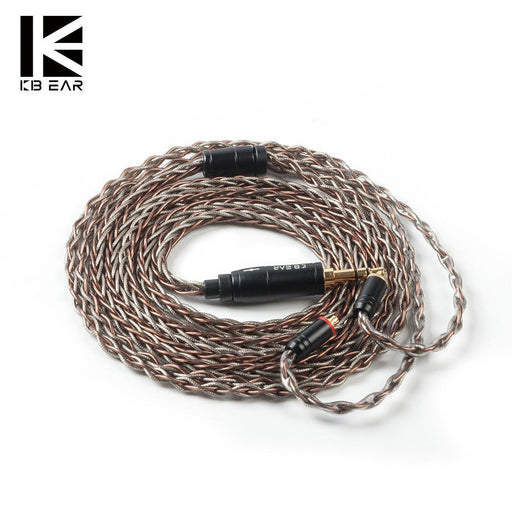 KBEAR 8 Core Single Crystal Copper UPOCC Cable with 2Pin/MMCX/QDC/TFZ Connector for KZ ZSX ZS10 PRO ZSN PRO CCA CA16 KBEAR KS2 HiFiGo
