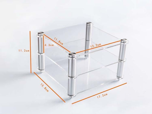 KGU12 Exquisite Acrylic Shelf HIFI Amplifier Decoder Frame Transparent HiFiGo