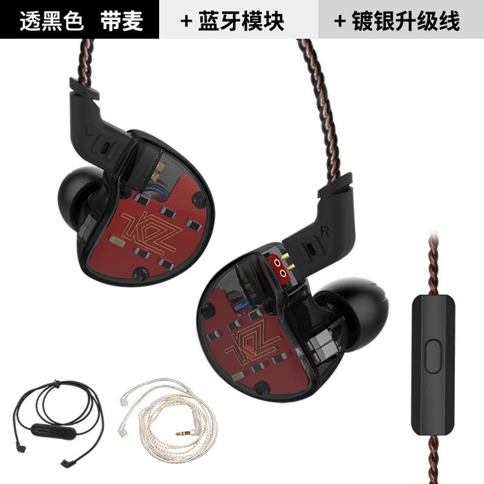 KZ ZS10 Earphones In Ear Headphone HIFI Bass Headset Earbuds HiFiGo black mic 3 cable