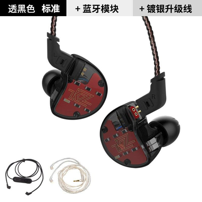 KZ ZS10 Earphones In Ear Headphone HIFI Bass Headset Earbuds HiFiGo black no mic 3 cable