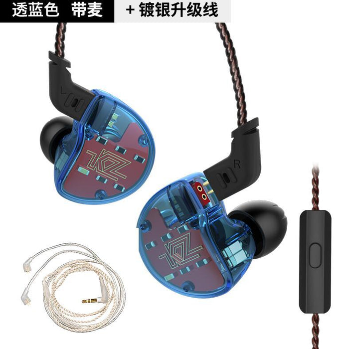 KZ ZS10 Earphones In Ear Headphone HIFI Bass Headset Earbuds HiFiGo blue mic silver