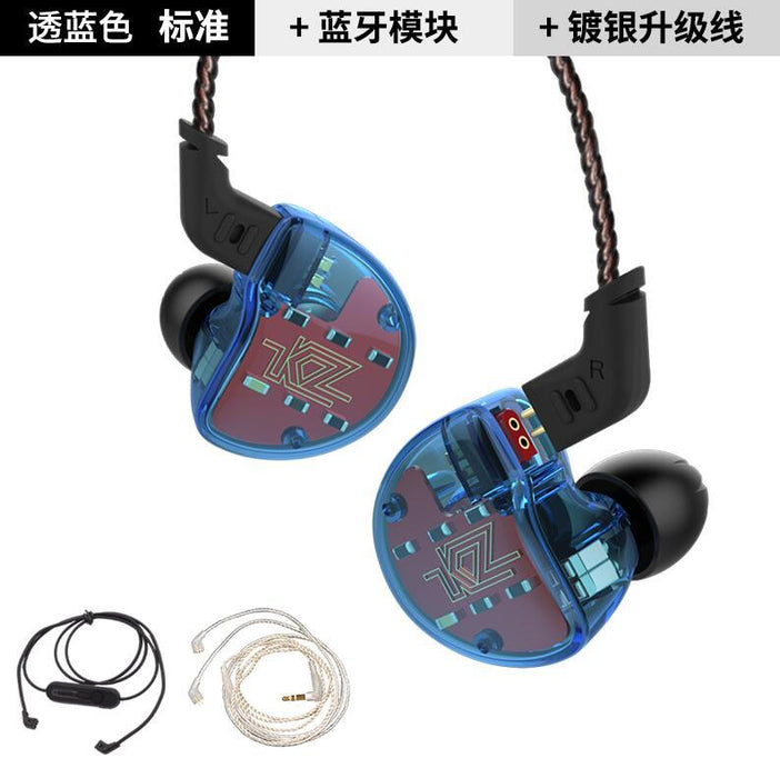 KZ ZS10 Earphones In Ear Headphone HIFI Bass Headset Earbuds HiFiGo blue no mic 3 cable