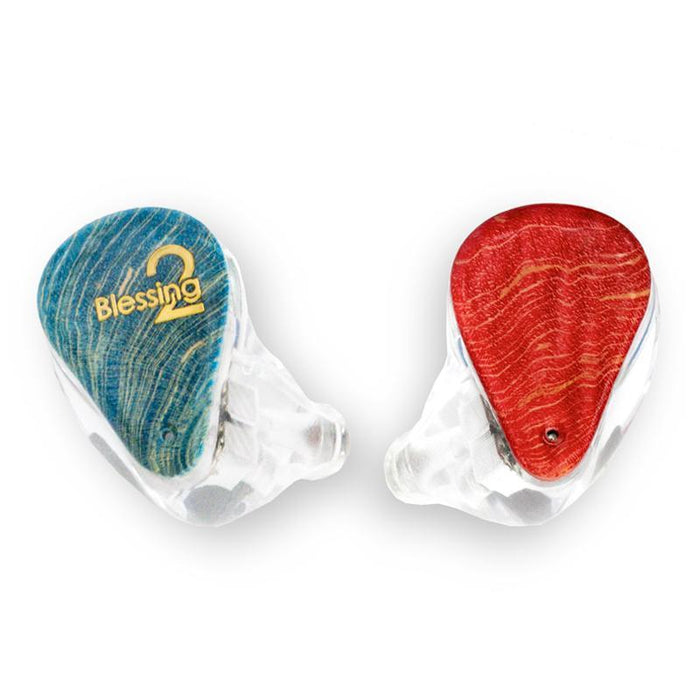 Moondrop blessing 2 1DD + 4BA Hybrid HiFi In-Ear Earphones IEM HiFiGo red blue
