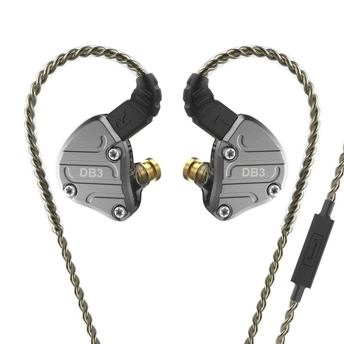 NICEHCK DB3 1BA+2DD Hybrid 3 Driver Units In Ear Earphone Monitor HiFiGo Black with mic