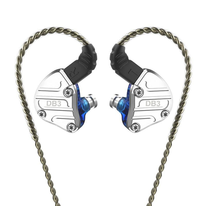 NICEHCK DB3 1BA+2DD Hybrid 3 Driver Units In Ear Earphone Monitor HiFiGo Blue no mic