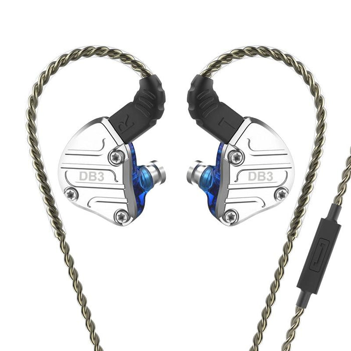 NICEHCK DB3 1BA+2DD Hybrid 3 Driver Units In Ear Earphone Monitor HiFiGo Blue with mic