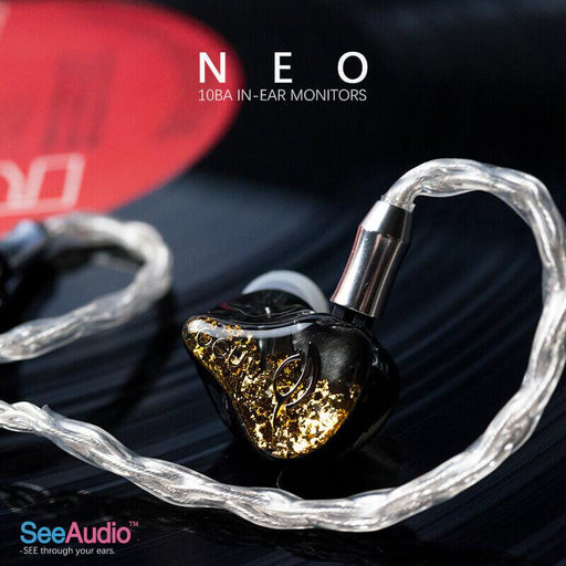 SeeAudio Neo 10BA Flagship in Ear Earphone IEMs HiFiGo