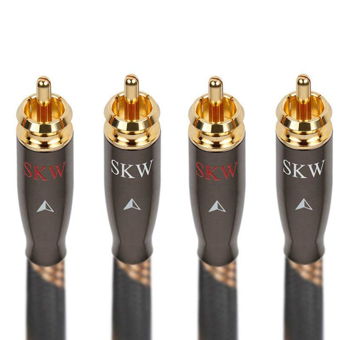 SKW Audio Cable 2RCA to 2 RCA Male to Male 6N OCC For Home Theater Amplifier DVD TV Audio Cable HiFiGo