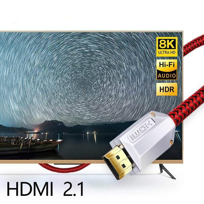 SKW HDMI 2.1 Cable Ultra-HD (UHD) 8K 48Gbs Audio Cable HDR for Sony TV PC PS4 Blu-Ray Projector Audio Cable HiFiGo