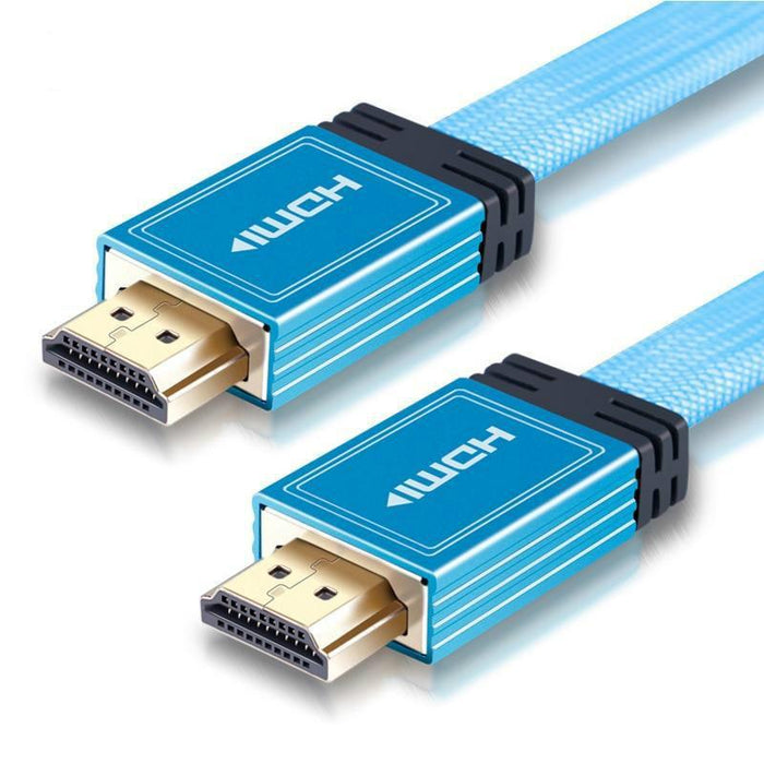 SKW HDMI Cable HDMI to HDMI 2.0 4K @60HZ 4:4:4 Baby blue With 24K Gold Plated for Laptop Connect to Projector TV Audio Cable HiFiGo