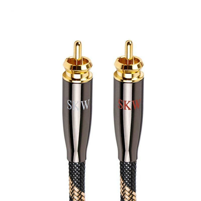 SKW High-End 2RCA To 2RCA Audio Cable 6N OCC With High Quality Alloy Splitter Audio Cable HiFiGo