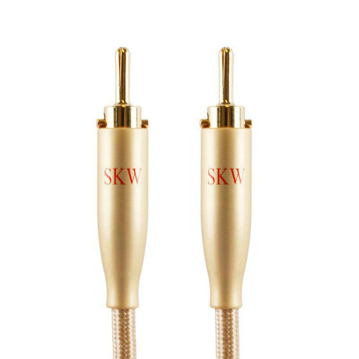 SKW Locking Type Termimal Audiophile Audio Cable 24K Gold-plated Banana Plug With Lock for Amplifier Loudspeaker 1pair Audio Cable HiFiGo