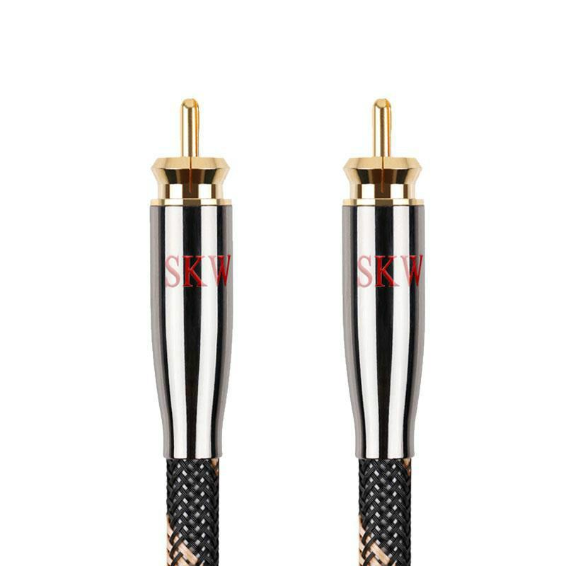 SKW RCA Audio Cable Male To Male Subwoofer Digital Coaxial 6N OCC for Car Subwoofer Amplifier Audio Cable HiFiGo