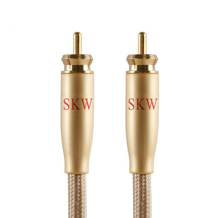 SKW RCA Audio Cable Male To Male Subwoofer Digital Coaxial Cable for Car Subwoofer Amplifier Audio Cable HiFiGo