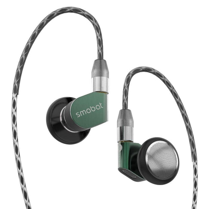 Smabat ST-10s Ear Hook Flagship HIFI Metal Earphone 15.4mm Dynamic HiFiGo ST-10 Green 45 Ohm