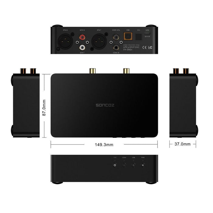 SONCOZ LA-QXD1 DAC Fully Balanced Digital Audio Converters with XLR HiFiGo