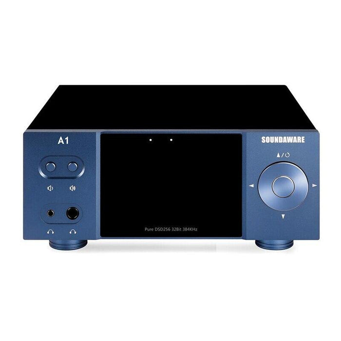 Soundaware A1 Streaming Desktop Network Player Digital Turntable Decoding Amplifier HiFiGo Blue