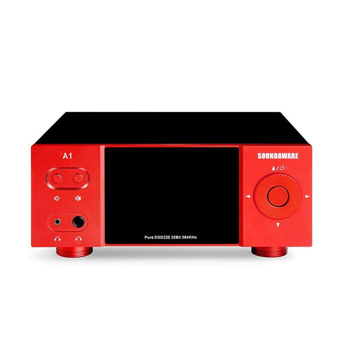 Soundaware A1 Streaming Desktop Network Player Digital Turntable Decoding Amplifier HiFiGo Red