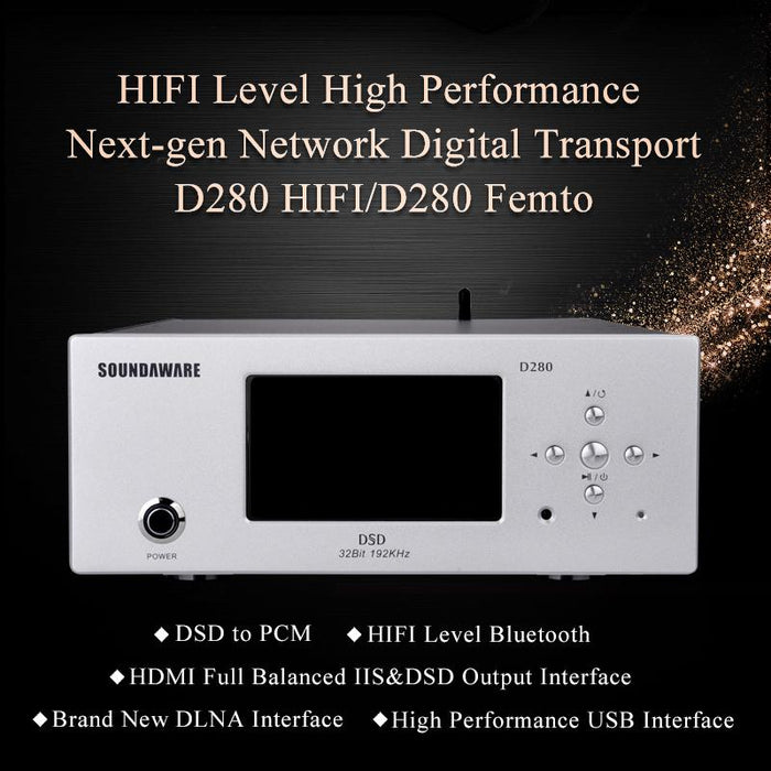 Soundaware D280 Hifi Network Digital Transport Femto FPGA Player DSD HiFiGo