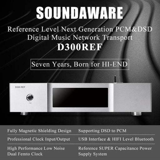 Soundaware D300REF PCM&DSD Network Transport USB Interface Femto Clock HiFiGo